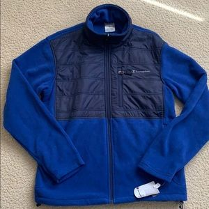 NWT Men's Champion fleece full-zip jacket, Size S